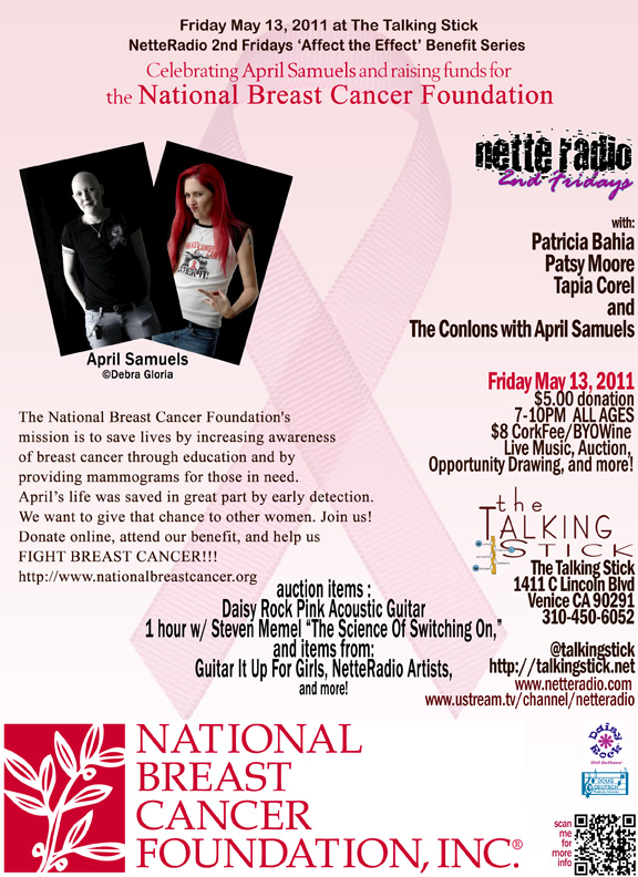NetteRadio Affect the Effect - National Breast Cancer Foundation 05/13/11