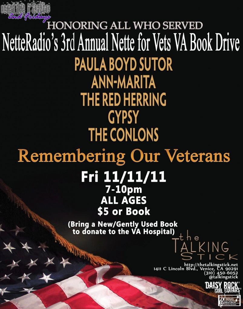 NetteRadio Affect The Effect Nette for Vets VA Book Drive 11/11/11